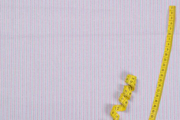 Streifen und Punkte – BLAU 100% Baumwolle