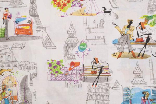 Stadtbilder – WEISS 100% Baumwolle