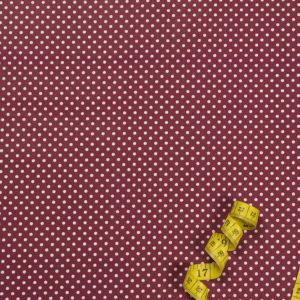 Punkte (2 mm) – WEINROT 100% Baumwolle