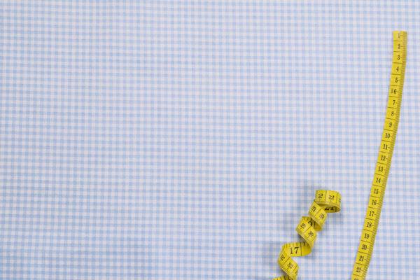 Karos (3 mm) – HELLBLAU 100% Baumwolle