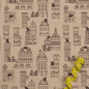 Stadtkatzen – BRAUN 100% Baumwolle