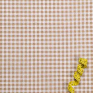 Karos (5 mm) – BEIGE 100% Baumwolle