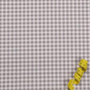 Karos (5 mm) – GRAU 100% Baumwolle