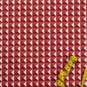 3D-Pyramiden – ROT 100% Baumwolle