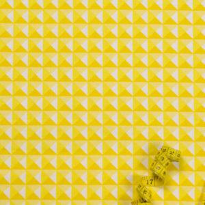 3D-Pyramiden – GELB 100% Baumwolle