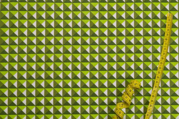3D-Pyramiden – GRÜN 100% Baumwolle