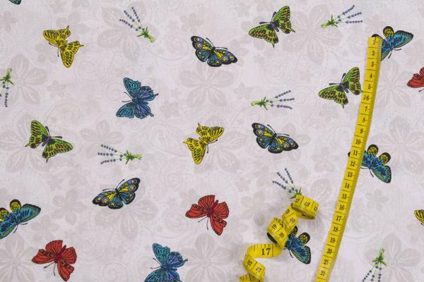 Schmetterlinge 1. 100% Baumwolle