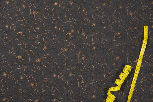 Glitzermotive – DUNKELGRAU-BRONZFARBEN 100% baumwolle - gemustert