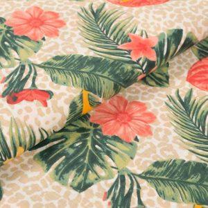Tropische Blumen - LACHSFARBEN