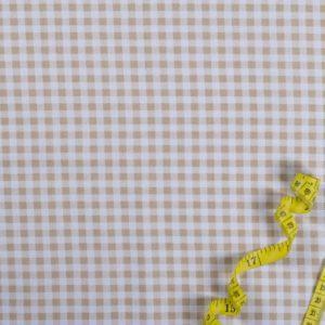 Karostoff (5 mm) - BEIGE 100% baumwolle - gemustert