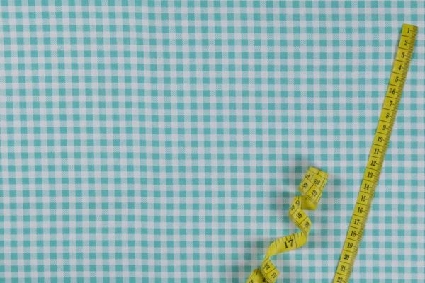Karostoff (5 mm) - TÜRKIS 100% baumwolle - gemustert