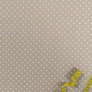 Punkte (5 mm) – BEIGE 100% baumwolle - gemustert