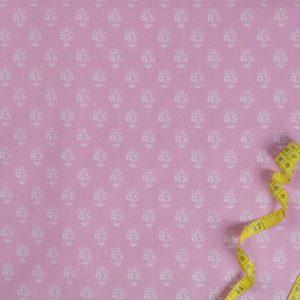 Blaudruck 2. - ROSA 100% baumwolle - gemustert