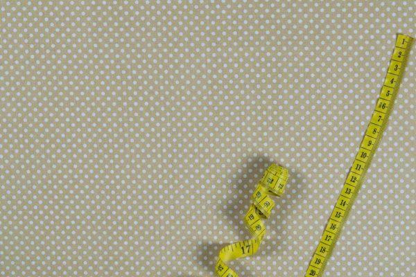 Punkte (2 mm) – CREME 100% baumwolle - gemustert