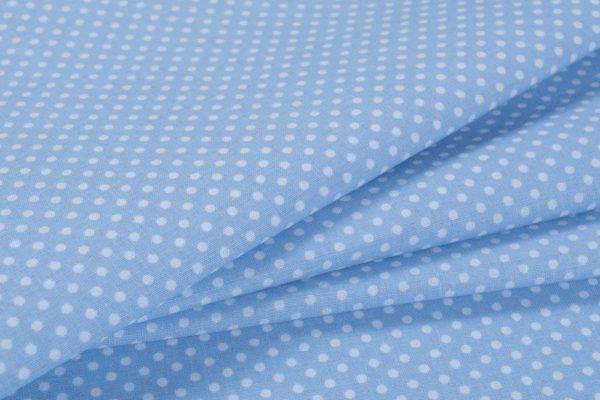 Punkte (2 mm) – BLAU 100% baumwolle - gemustert