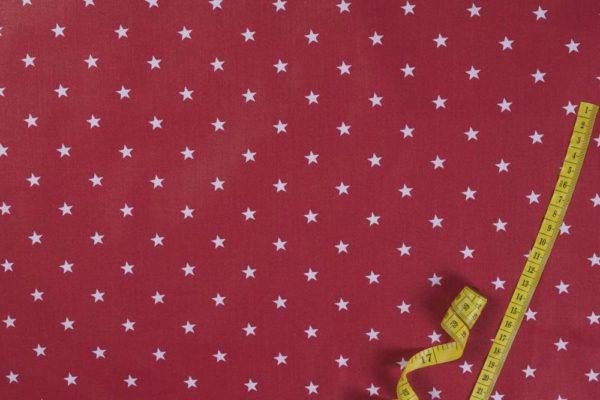 Sterne – ROT 100% baumwolle - gemustert