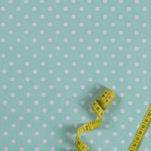 Punkte (5 mm) – PASTELLGRÜN 100% baumwolle - gemustert