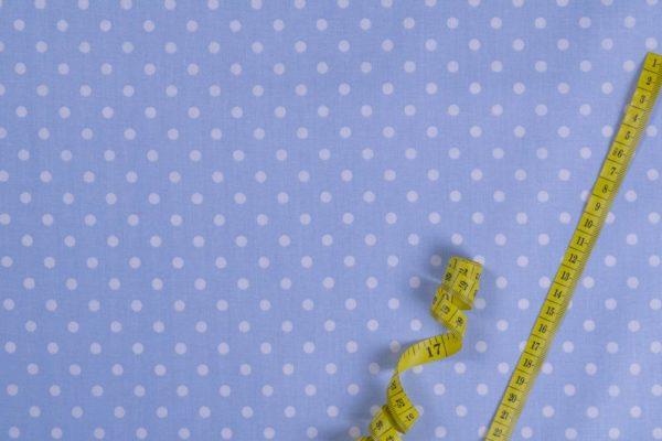 Punkte (5 mm) – HELLBLAU 100% baumwolle - gemustert