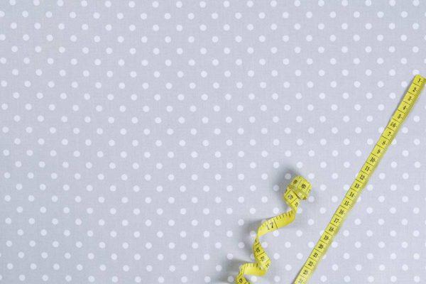 Punkte (5 mm) – GRAU 100% baumwolle - gemustert