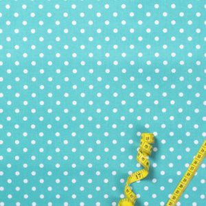 Punkte (5 mm) – TÜRKIS 100% baumwolle - gemustert
