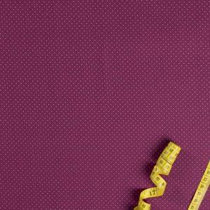 Kleine Punkte – WEINROT 100% baumwolle - gemustert