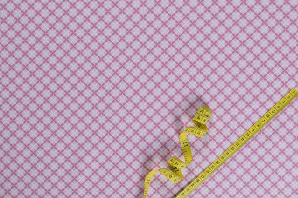 Sterne – ROSA 100% baumwolle - gemustert