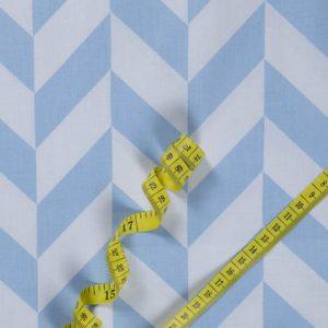 Geometrisch – HELLBLAU 100% baumwolle - gemustert
