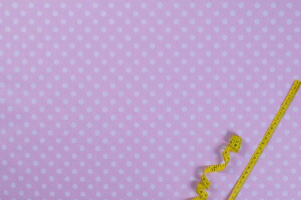 Punkte – ROSA 1 cm 100% baumwolle - gemustert