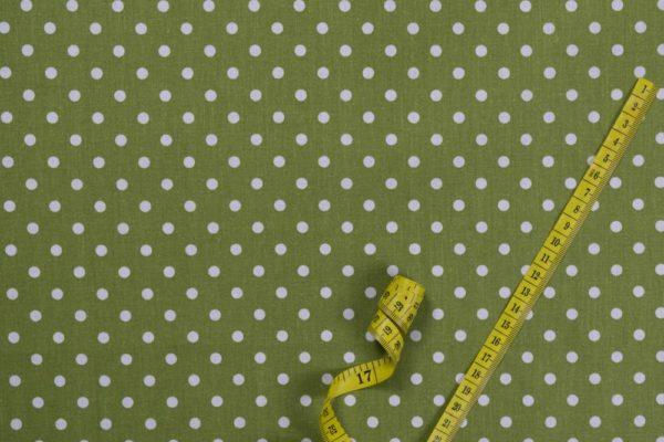 Punkte (5 mm) - GRÜN 100% baumwolle - gemustert