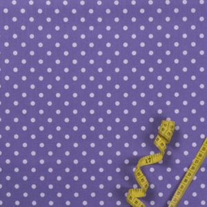 Punkte (5 mm) - LILA 100% baumwolle - gemustert