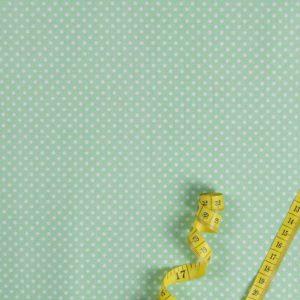 Punkte (2 mm) - PASTELGRÜN 100% baumwolle - gemustert