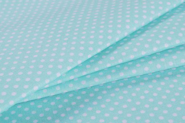 Punkte (2 mm) - MINTGRÜN 100% baumwolle - gemustert