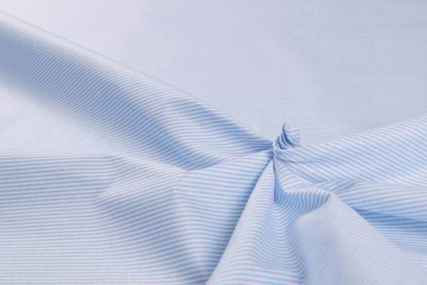 Streifen (1 mm) - BABYBLAU 100% baumwolle - gemustert