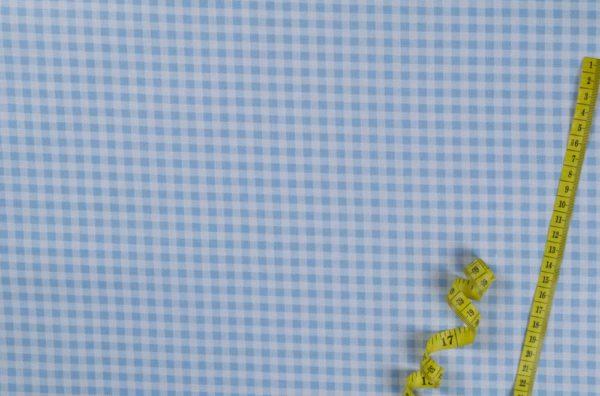 Karos (5 mm) - BABYBLAU 100% baumwolle - gemustert