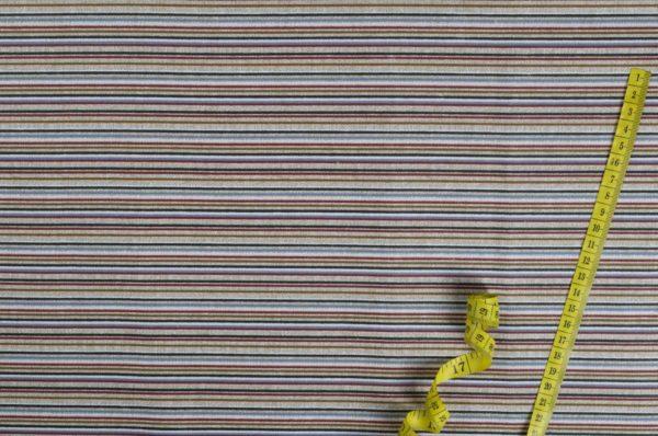 Bunte Streifen - LEINENEFFEKT 100% baumwolle - gemustert