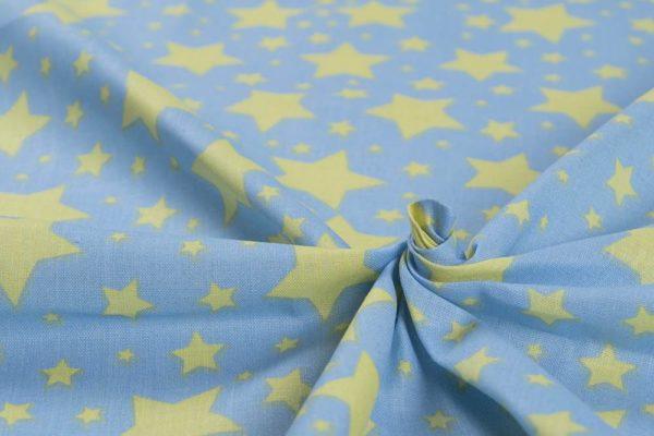 Sternenhimmel - BABYBLAU 100% baumwolle - gemustert