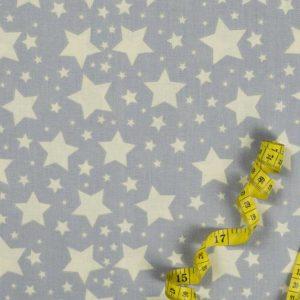 Sternenhimmel - GRAU 100% baumwolle - gemustert