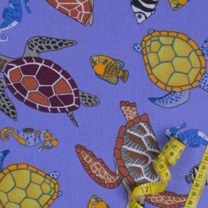 Ozean – LILA 100% baumwolle - gemustert