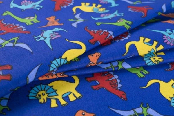 Dinosaurier - DUNKELBLAU 100% baumwolle - gemustert