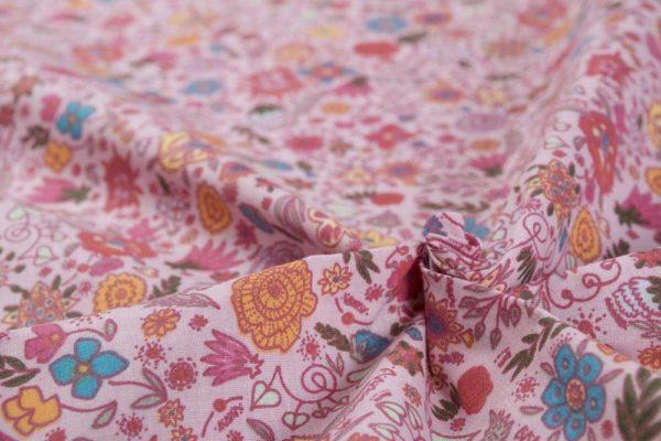 Fabelhafte Blumen - ROSA 100% baumwolle - gemustert