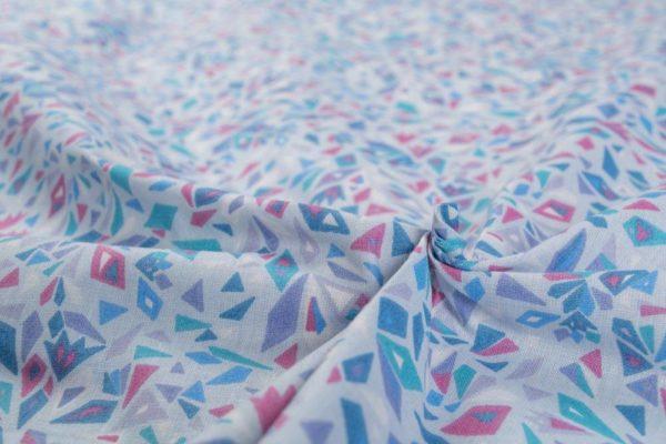 Kaleidoskop - BLAU 100% baumwolle - gemustert