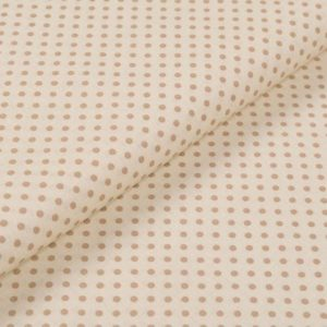 Bunte Punkte (2 mm) - ECRU-BEIGE