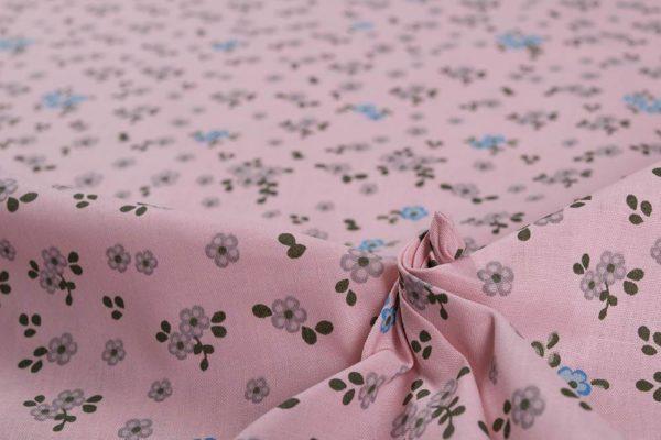 Kleine Blumen - ROSA 100% baumwolle - gemustert