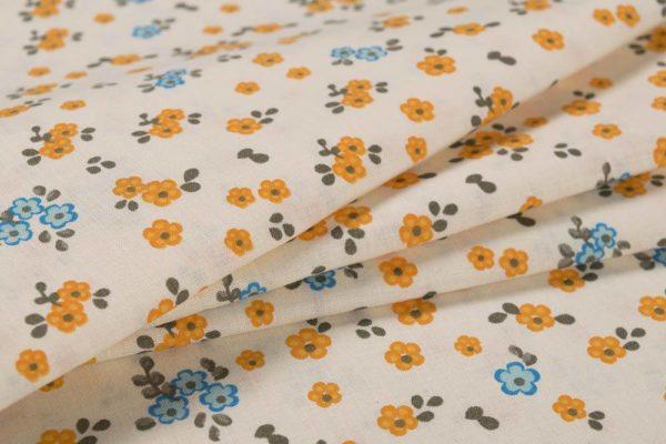 Kleine Blumen - ORANGE 100% baumwolle - gemustert