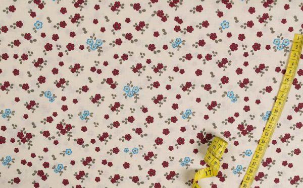 Kleine Blumen - ROT 100% baumwolle - gemustert