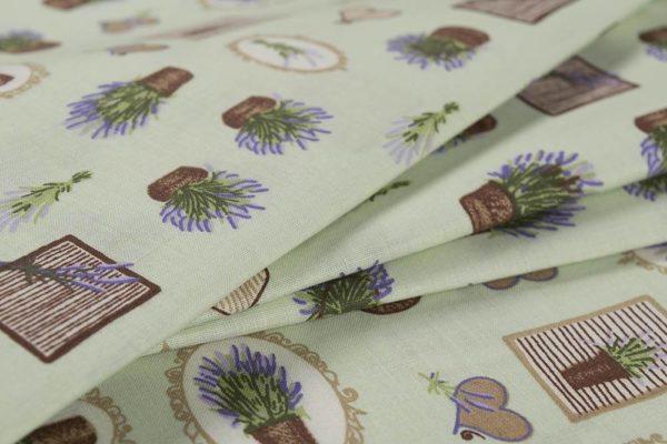 Lavendelkörbe - GRÜN 100% baumwolle - gemustert