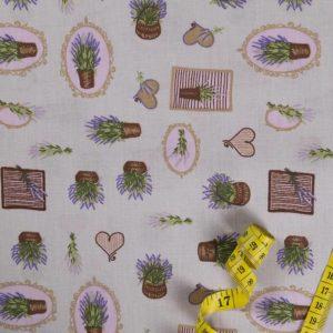 Lavendelkörbe - GRAU 100% baumwolle - gemustert