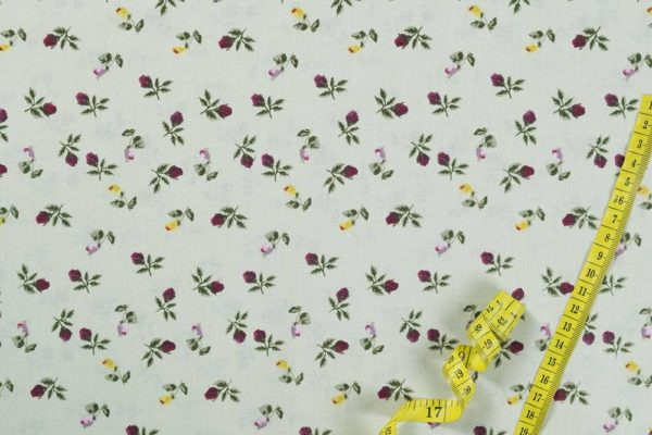 Klassische Rosen - GRÜN 100% baumwolle - gemustert
