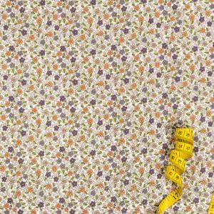 Blumengarten - LILA 100% baumwolle - gemustert