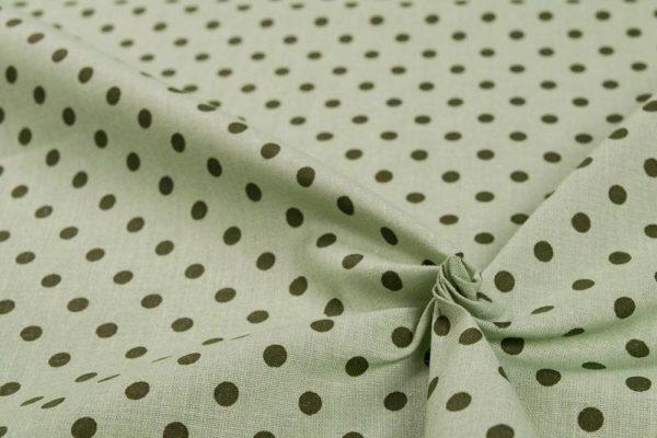 Bunte Punkte (5 mm) - HELLGRÜN-DUNKELGRÜN 100% baumwolle - gemustert